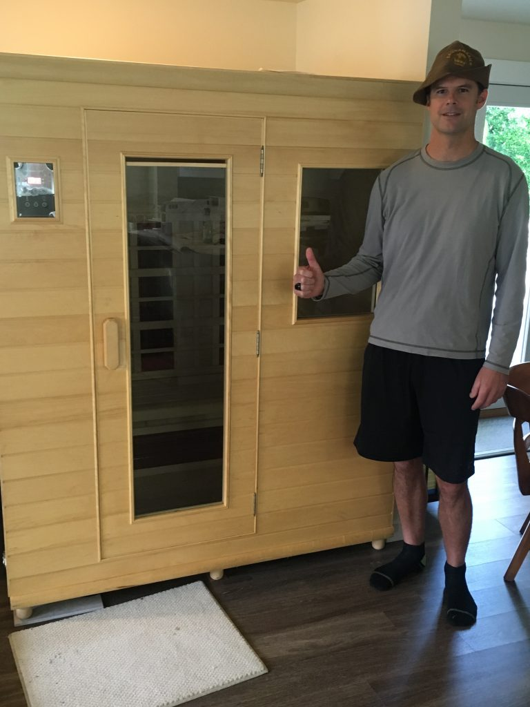 HighTech Health Sauna and Dr Lynch. The benefits are sauna are seen with this unit.